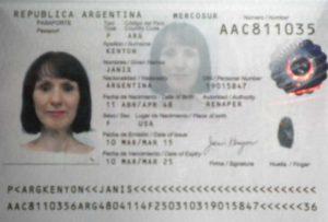 аргентинский паспорт