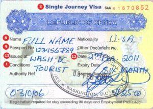 Одноразовая виза в Кению