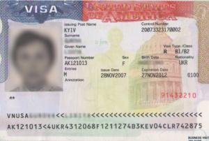 Бизнес виза в США категории B1/B2