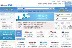 Популярный сайт поиска вакансий KOREAJOB