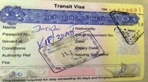 Транзитная виза в Кению