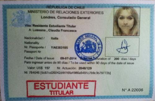 Виза в Чили
