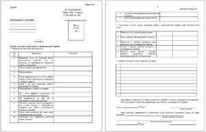 Бланк заявления на отказ от гражданства (форма 20)