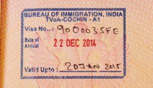 По прилету к своей визе вы еще получите вот такой штап в паспорт, что свидетельствует о том, что у вас электронная виза активна.