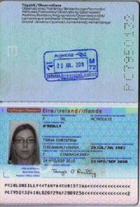 Паспорт Ирландии