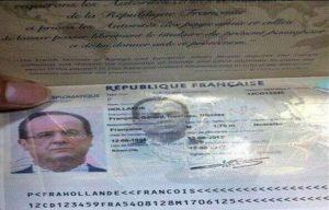 Паспорт Франции.