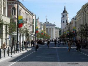 Литва, Вильнюс, проспект Гедиминаса.