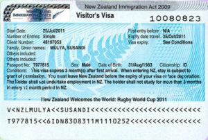 Визовое разрешение в Новую Зеландию