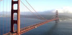 """Один из самых знаменитых мостов в мире - мост """"Золотые Ворота"""", Сан-Франциско, США."""