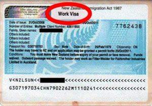 Так выглядит рабочая виза в Новую Зеландию