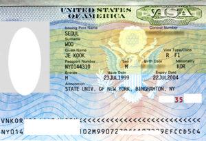 Пример визы в Пуэрто-Рико