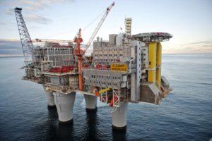 Нефтяная (буровая) платформа в Норвегии