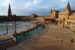 Площадь в Севильи в Испании