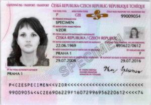 Паспорт гражданина Чехии (образец)