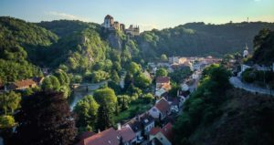 Вид на чешскую деревушку