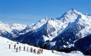 Горнолыжный курорт в австрийских Альпах