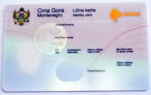 Документ удостоверяющий личность в Черногории