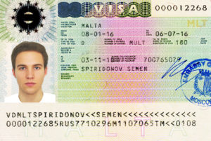 Так выглядит виза на Мальту, выданная в 2016 году. Аналогична подобным документам других стран Шенгена