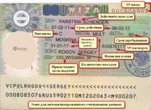Шенгенская виза (обозначения)