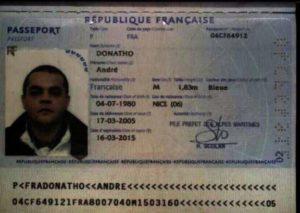 Французский паспорт (образец)