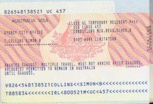 Австралийская виза с разрешением на работу