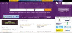 Популярный портал поиска работы в Индии monsterindia.com