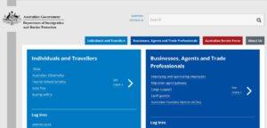 Сайт Государственной Службы Иммиграции и Защиты Границ Австралии (DIBP)