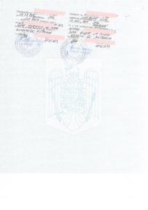 Отметка о разводе(румынская)-ставится на обратной стороне свидетельства о рождении