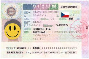 Шенгенская виза в Прагу, Чехия