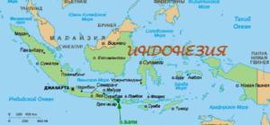 Карта Индонезии.