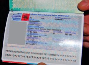 Швейцарский паспорт.