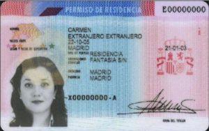 Карточка резидента Испании.
