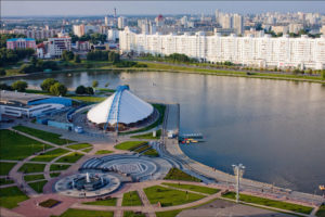 Красивая панорама Минска.