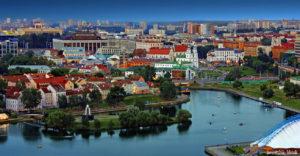 Шикарный вид на центр Минска.