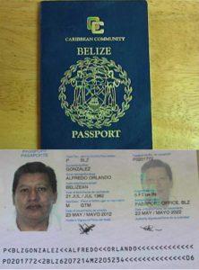 Паспорт гражданина Белиза (образец)