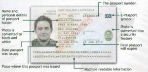 Паспорт гражданина Новой Зеландии (образец)