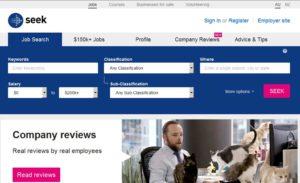 www.seek.com.au - популярный австралийский сайт вакансий