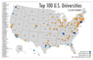Топ 100 американских университетов. Кликните для увеличения