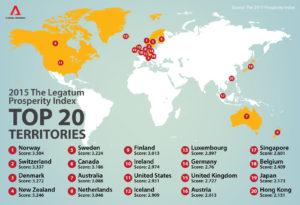 Рейтинг стран по версии института Legatum Institute за 2015 год