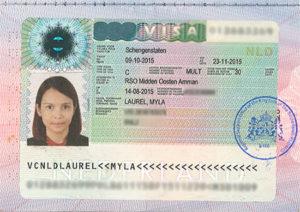 Так выглядит транзитная шенгенская виза (практически не отличается от обычного шенгена)