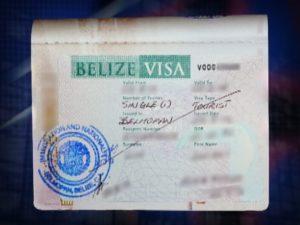 Так выглядит виза в Белиз