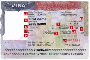 Так выглядит виза в США категории H1B