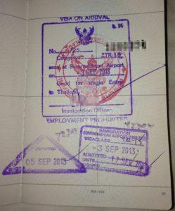 Такой штамп ставят в паспорт в тайском аэропорту по прибытию