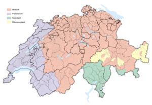 Языковая карта Швейцарии