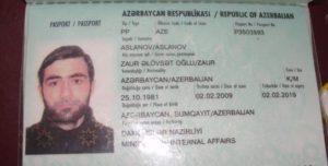 Паспорт гражданина Азербайджана (образец)