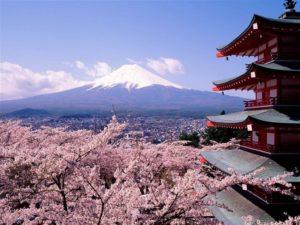 Вид на гору Фудзияма - иммиграция в Японию