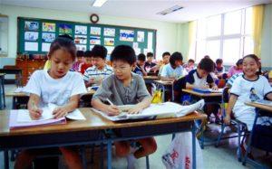 Урок в корейской начальной школе