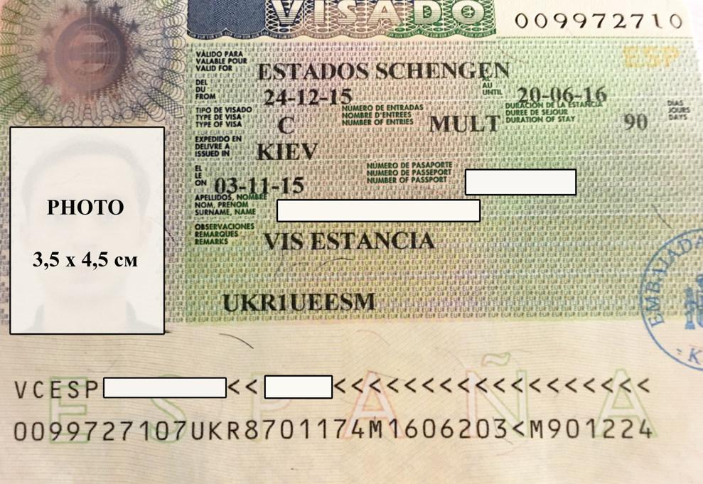 Шенгенская виза в Испанию.