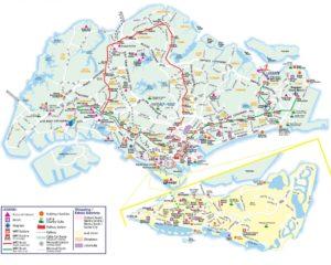 Карта Сингапура (можно увеличить).