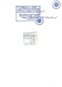 Заверенный перевод консульством РФ в Сантьяго (последняя страница) - есть вероятность, что чилийские инстанции его могут не принять как полноценный легализованный документ.